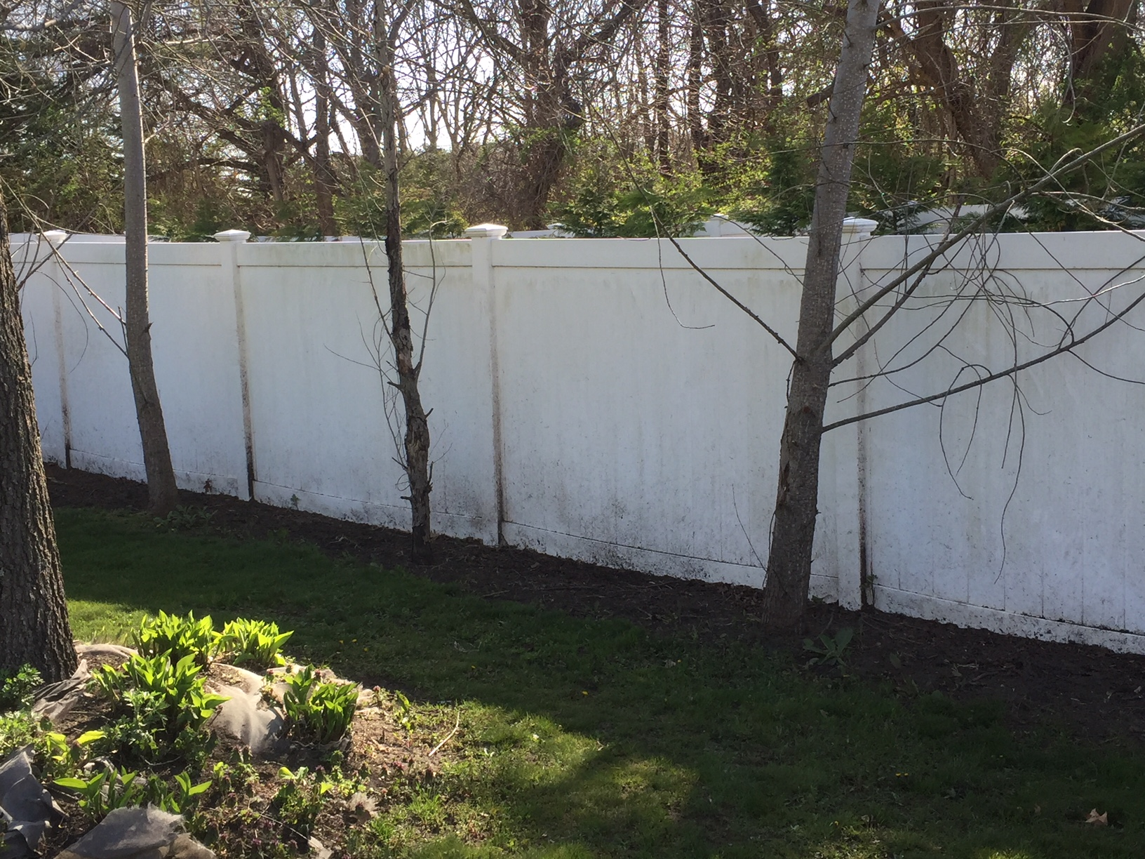 Power Washing Of Pavers And Vinyl Fence Long Island